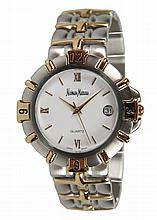 Neiman Marcus Unisex Two-Tone Bracelet Watch