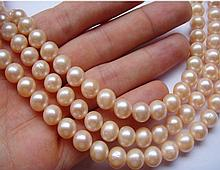 9-10mm Natural Gold, Pink Peak Necklace 50