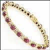 Cabochon Ruby, Diamond Bracelet