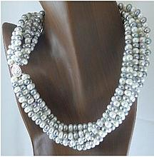 Freshwater Multistrand Pearl Necklace