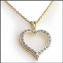Diamond Heart Pendent Necklace