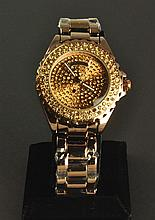 Luxury Men's Rhinestone Wrist Watch
