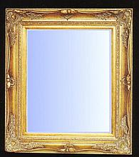 Decorative styled mirror with gold gilt frame