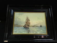 David Martin, Pair ebonized framed watercolors