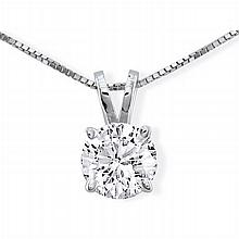 Diamond Solitaire Pendant Necklace