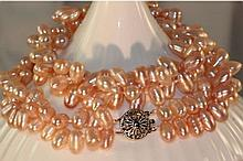 Akoya Pink Pearl Double-Strand Necklace
