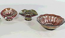 Group of 3 Carnival Glass Bowls, Candy Dishes