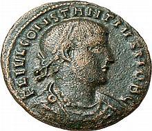 oImperial Roman AE Folis Constantius II 335-337 AD