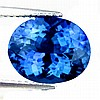 4.34Ct AAA UNHEATED NATURAL GREEN BLUE TANZANITE