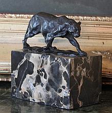 Outstanding Jaguar Bronze Sculpture