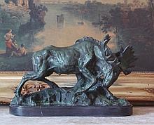 Majestic Bronze Sculpture Moose