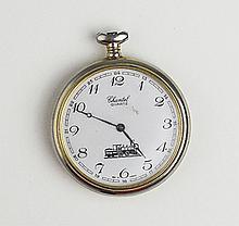 Men's Old Chantel Quartz Train Pocket Watch