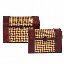 Pair of Houndstooth Woven Trunks