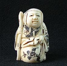 Hand Carved Ivory Netsuke Figure