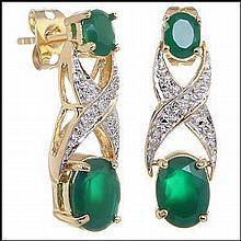 Emerald, Diamond Earrings