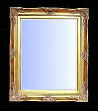 Classically styled mirror with gold gilt frame