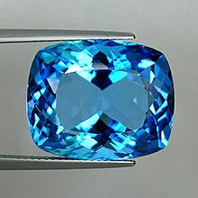 23.52 carat Cushion Cut Swiss Blue Topaz