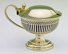George V silver urn shaped mustard pot