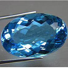 Enormous 48.24 ct NATURAL SWISS BLUE TOPAZ
