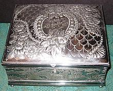 Wilcox Silverplate Tea Caddy Box, Jewelry Box