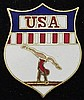 Vintage 80's USA Shield Symbol Gymnastics Pin