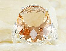 Lovely Topaz Gemstone & Sterling Silver Ring