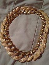 Neiman Marcus Gold Couture Fashion Necklace