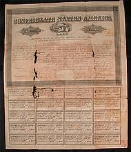 Antique $1000 Uncut CSA 1861Loan Certificate Note