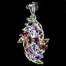 Rainbow Marquise Multi-gem Pendant