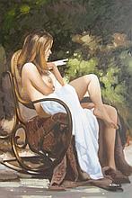 Nikolai Usik Russian Beauty Original Oil Painting