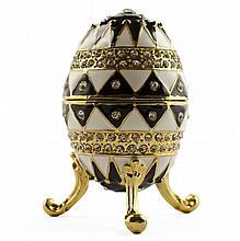 Noir Et Blanc Faberge Inspired Egg