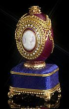 Faberge Inspired Scarlet Cameo Egg