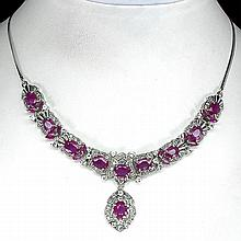Spectacular 116.58 ct. VVS Ruby Drop Necklace