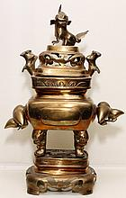 Chinese Brass Incense Burner, 19th c.