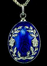 Olive Branches Faberge Inspired Egg Pendant