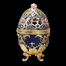 Faberge Inspired Hummingbird Egg