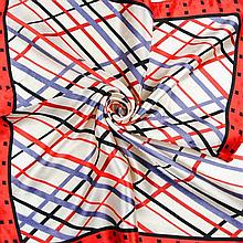 Women's intersecting lines silk scarf
