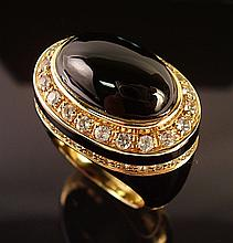Angelique de Paris Tycoon Black Onyx Ring