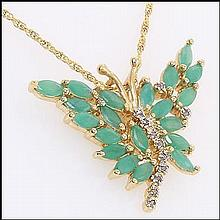 Emerald & Diamond Designer Necklace