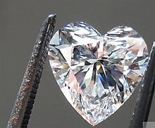 Bianco 2 carat Heart Facet Cut Diamond