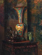 Ceramic Art Tile, Hubert Vos, Still Life