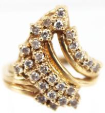 14kt Gold & Diamond Cocktail Ring
