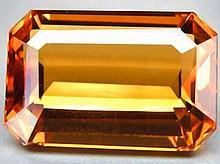 12.40ct Incredible Golden Orange Citrine