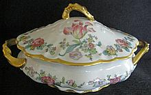 Covered Ceramic Tureen w/ Floral Motif