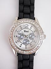 Stunning Unisex Silver Tone Crystal Watch