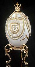 Faberge Inspired Pearl Carousel Egg