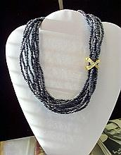 DESIGNER NOLAN MILLER GREY TORSADE NECKLACE