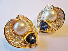 Authentic Nolan Miller Couture Clip Earrings