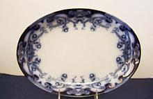 Royal Staffordshire Iris and Blue Oval Platter