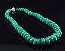 Bold 18mm Graduated Turquoise Necklace
